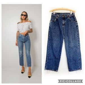 "Vintage Lee 11"" High Rise Mom Jean With Raw Hem"